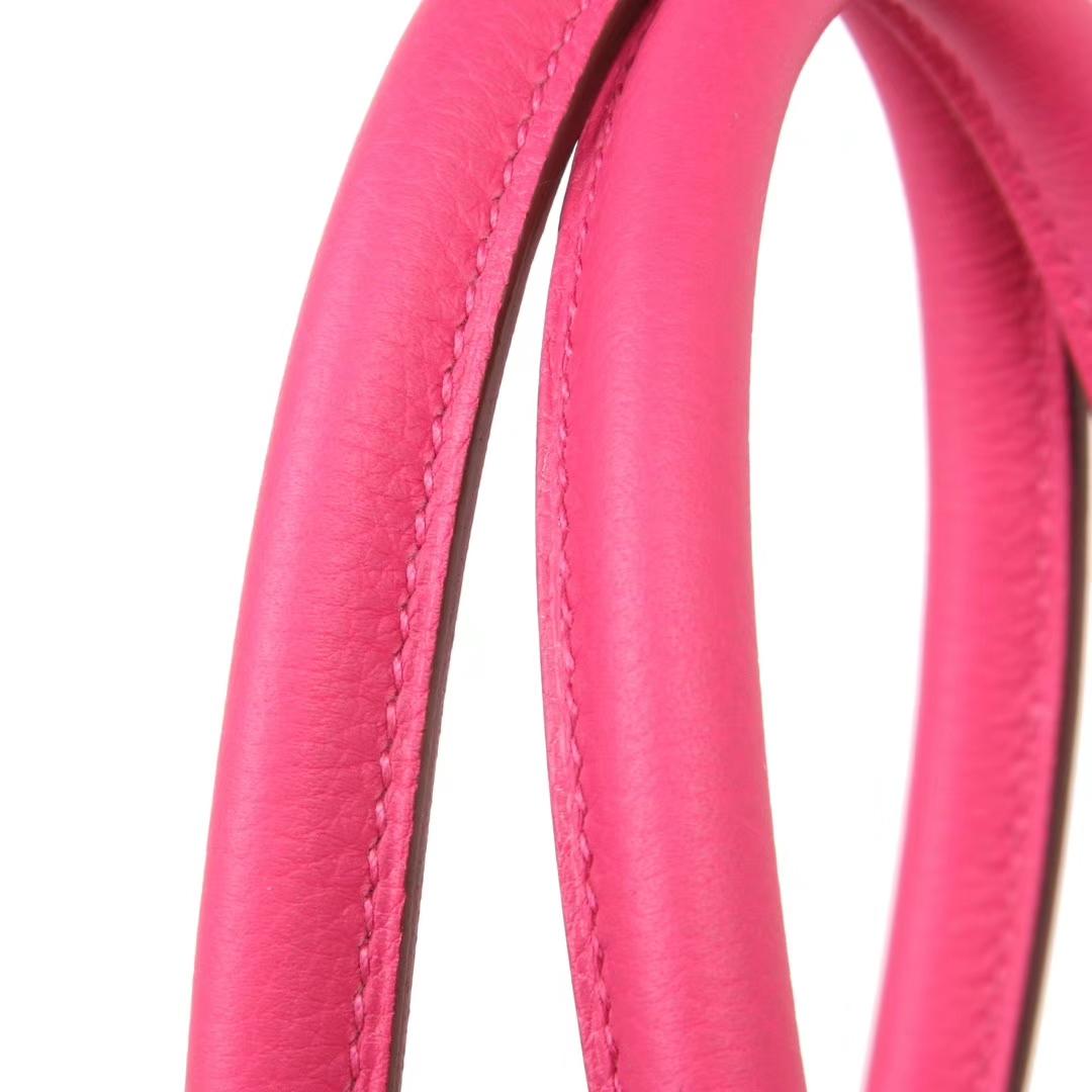 Hermès(爱马仕)birkin 铂金包 玫瑰紫 Togo 银扣 30cm