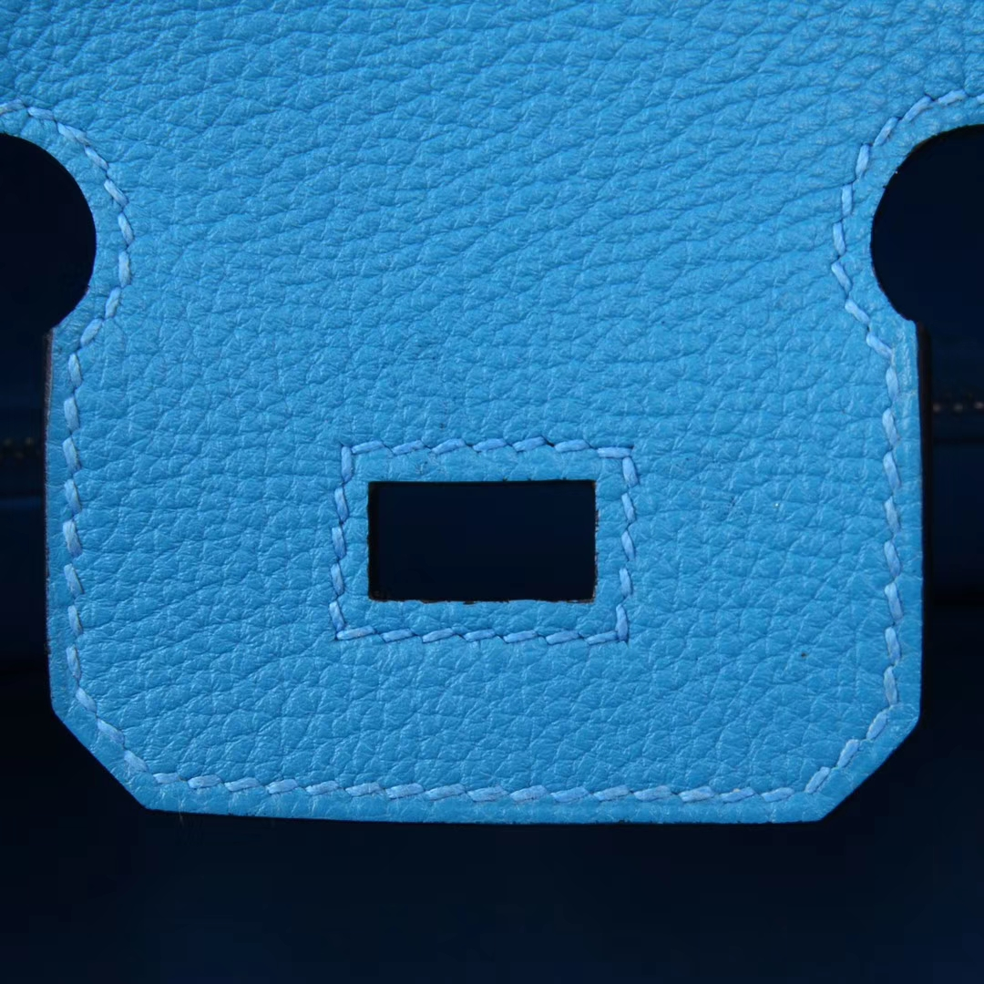 Hermès(爱马仕)birkin 铂金包 坦桑尼亚蓝 Togo 银扣 30cm