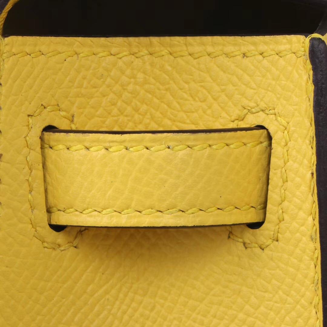 Hermès(爱马仕)mini Kelly 迷你凯莉 那不勒斯黄 银扣 Epsom皮 2代