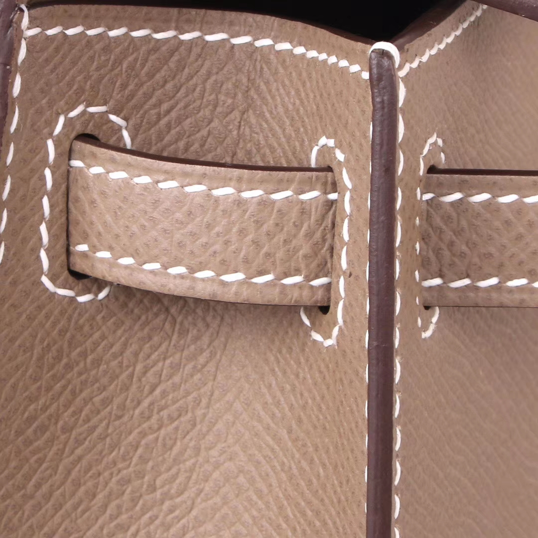 Hermès(爱马仕)mini Kelly 迷你凯莉 大象灰 金扣 Epsom皮 2代