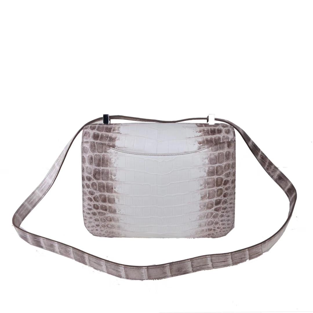 Hermès(爱马仕)Constance 空姐包 喜马拉雅 鳄鱼 银扣 23cm