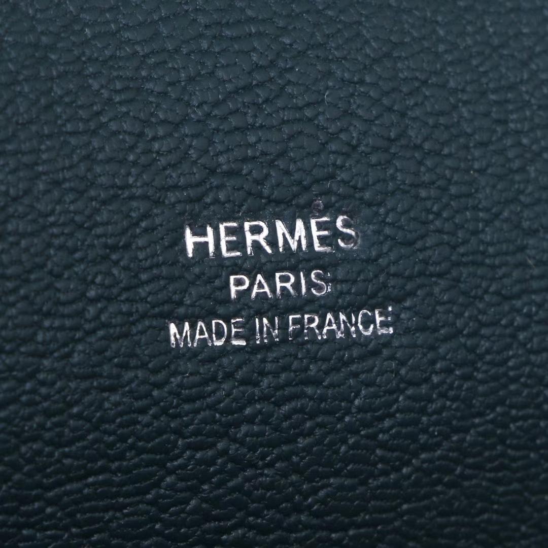 Hermès(爱马仕)Jypsiere吉普赛 28银 松柏绿  togo