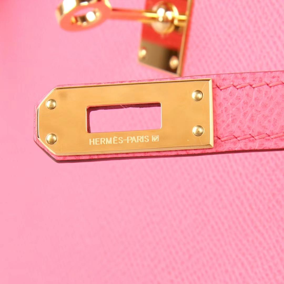 Hermès(爱马仕)Kelly 凯莉包 新唇膏粉 Epsom皮 金扣 28cm