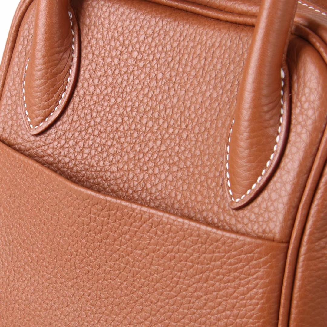 Hermès(爱马仕)Lindy 琳迪包 金棕色  togo 银扣 30cm