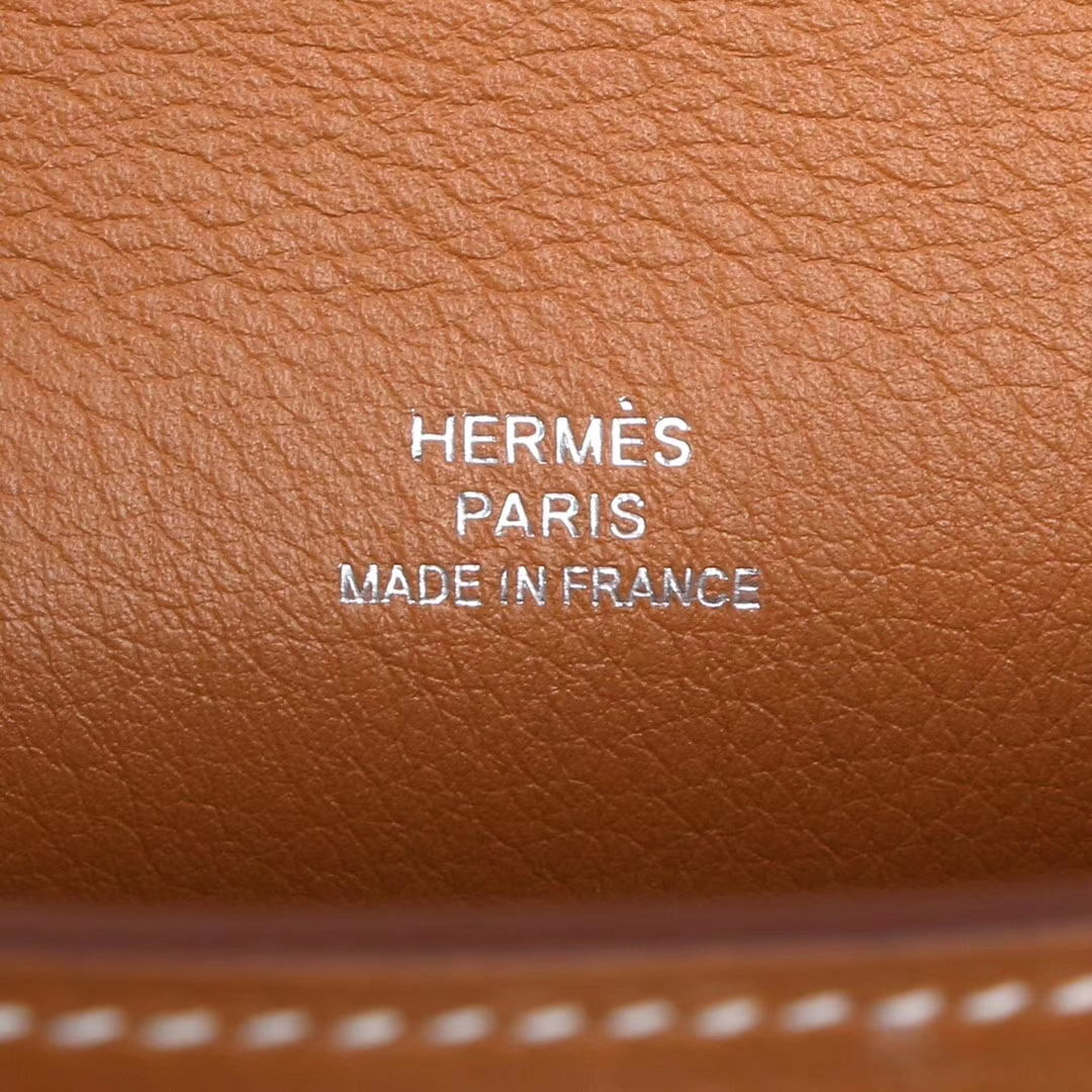 Hermès(爱马仕)miniKelly 一代 22cm 金棕色 银扣 swift皮