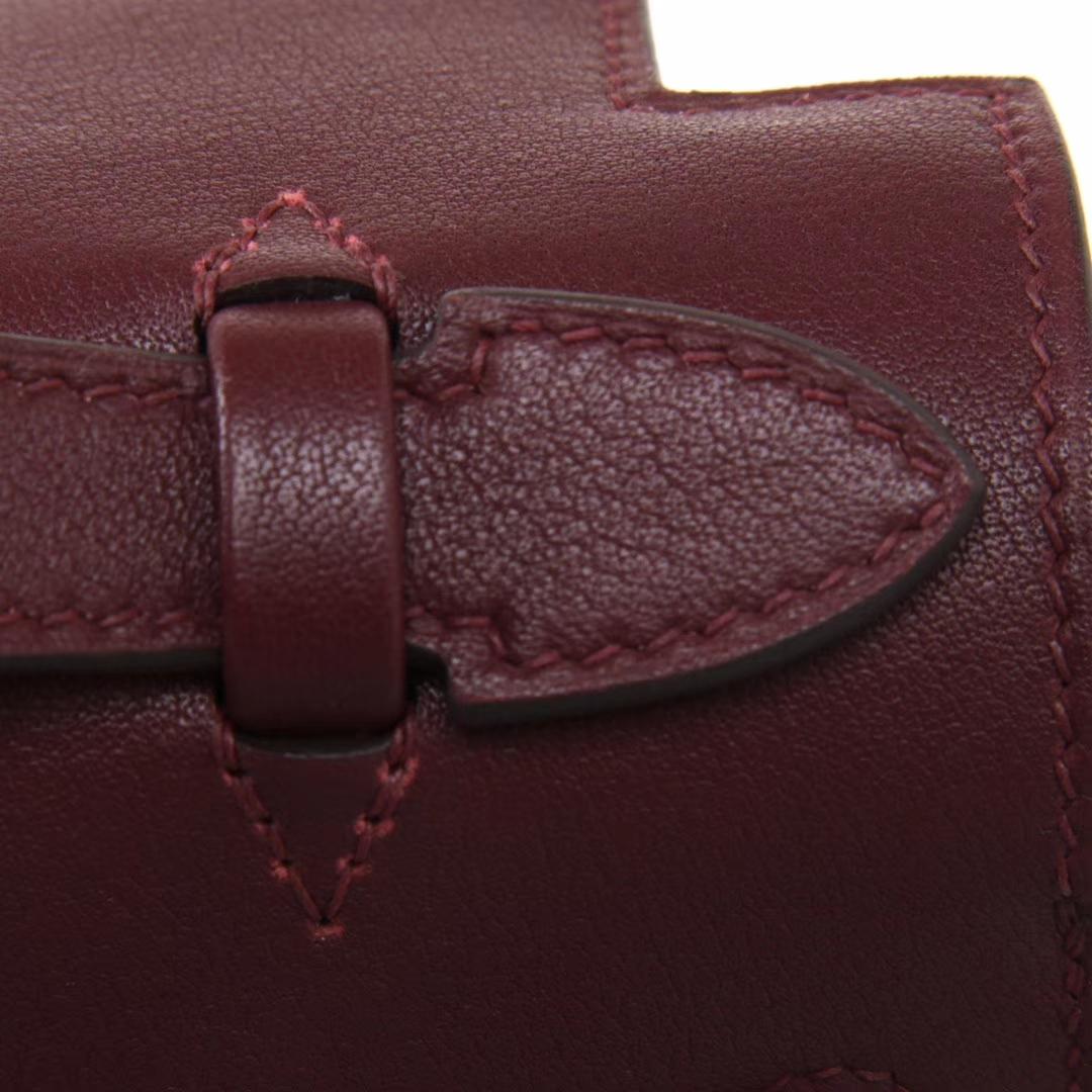 Hermès(爱马仕)miniKelly 一代 22cm 石榴红 金扣 swift