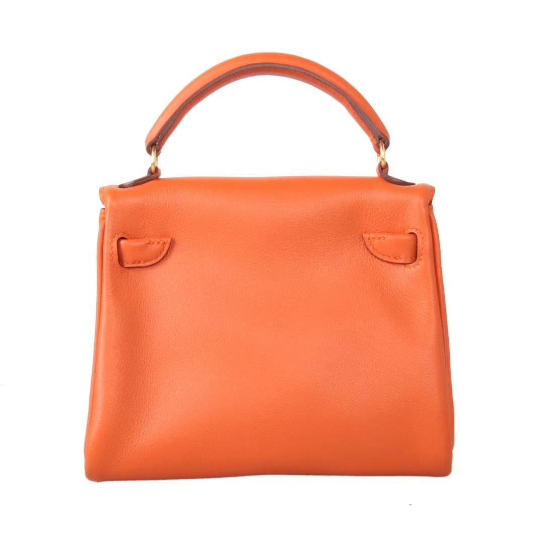 Hermès(爱马仕)kelly doll 橙色 swift皮