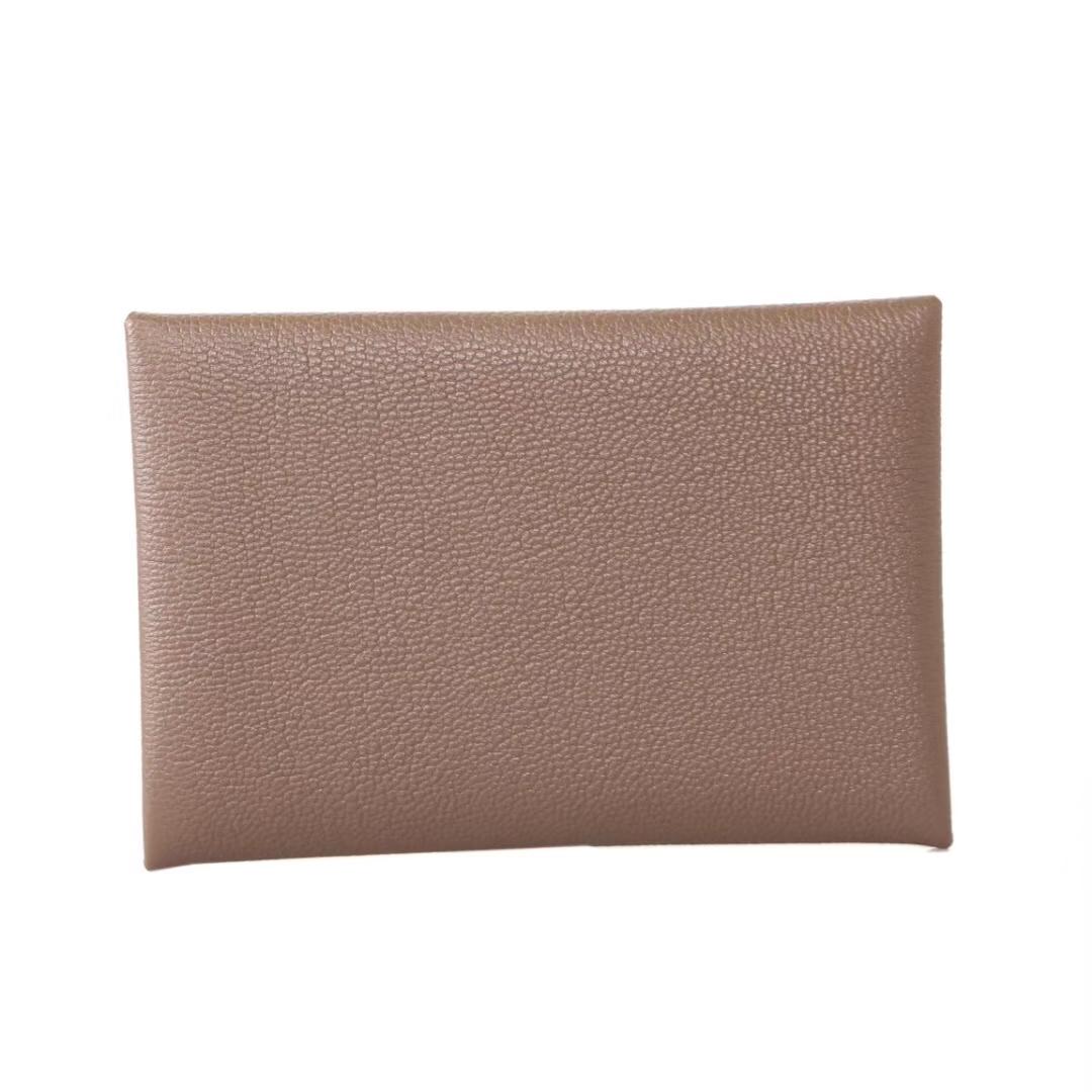 Hermès(爱马仕)信封卡包 CK18大象灰 山羊皮