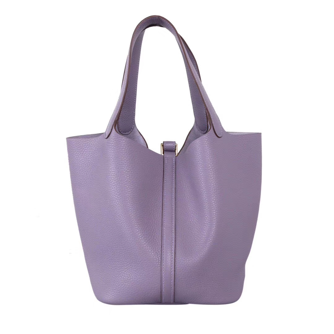 Hermès(爱马仕)Picotin 菜篮包 香芋紫 Togo 金扣 22cm