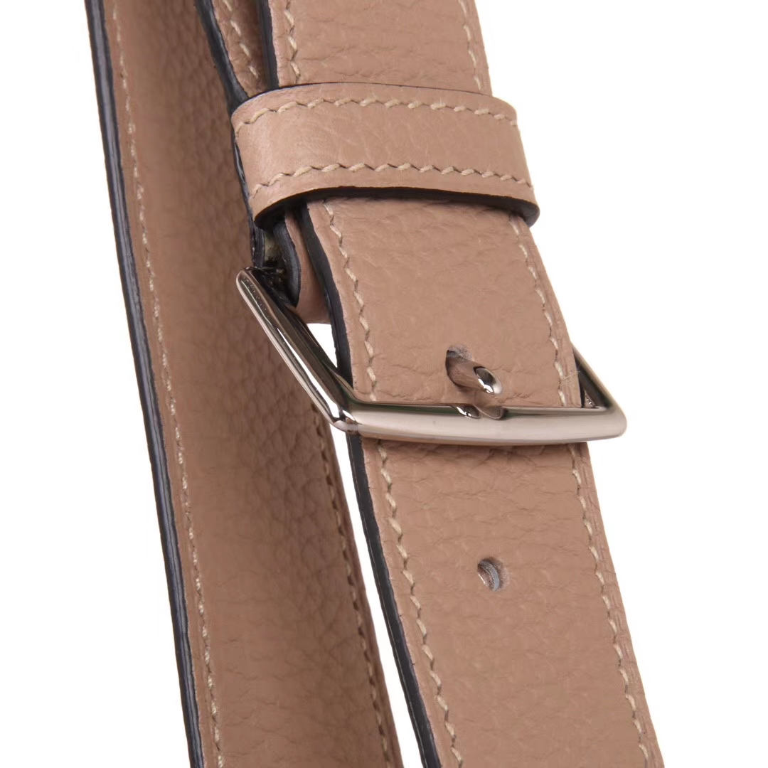 Hermès(爱马仕)soKelly 22cm 银扣 斑鸠灰 togo