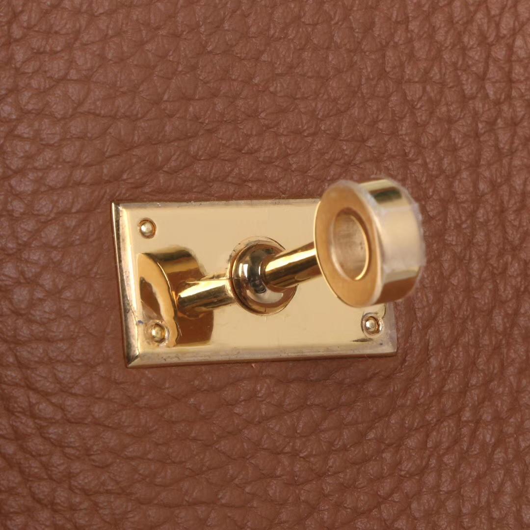 Hermès(爱马仕)soKelly 22cm 金扣 金棕色 togo