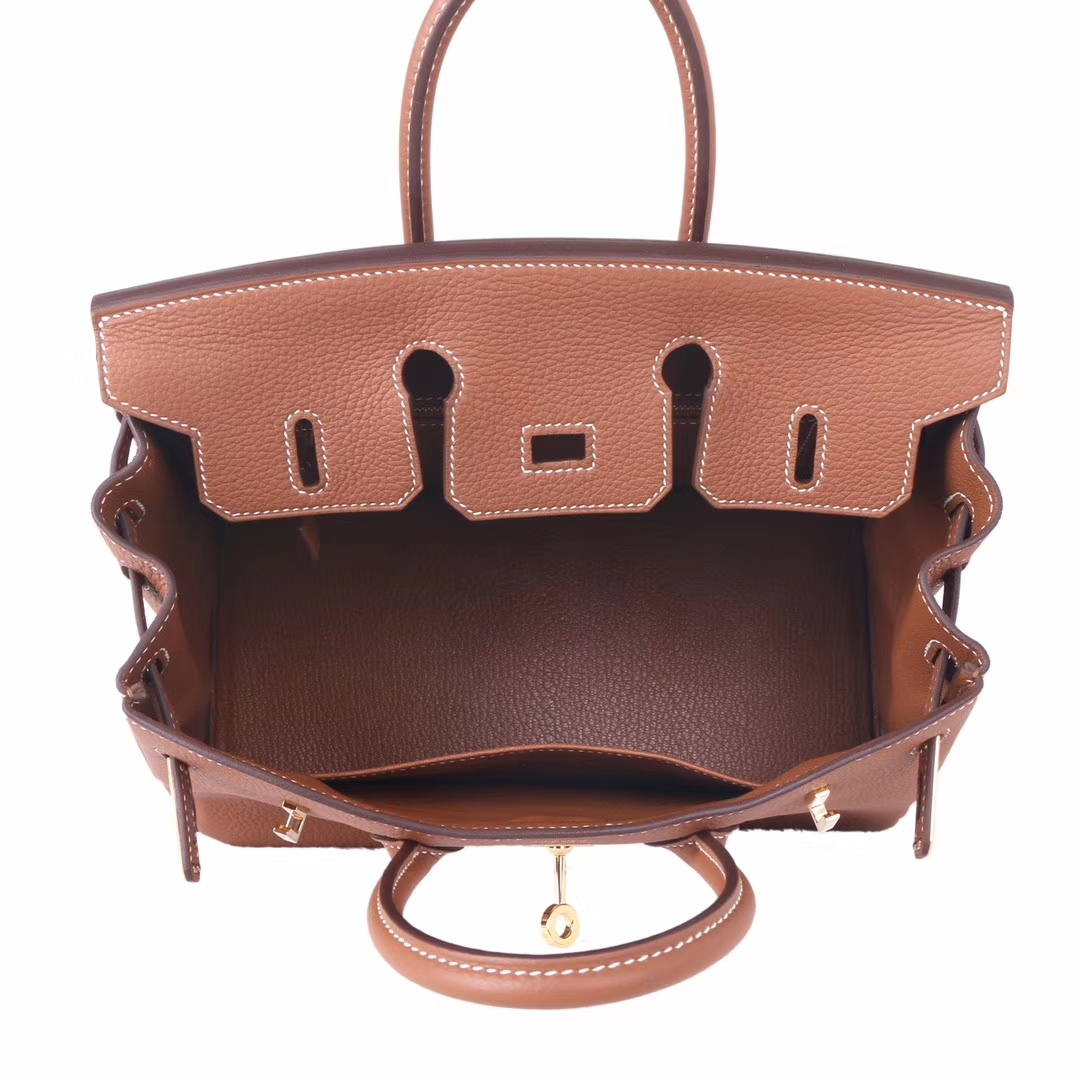 Hermès(爱马仕)Birkin 铂金包 金棕色 togo 金扣 30cm