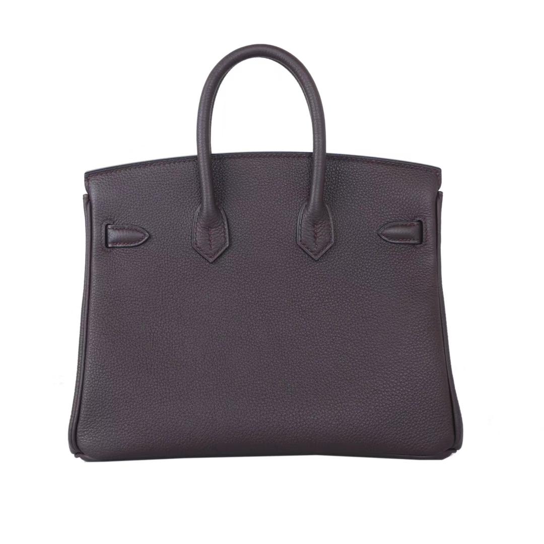 Hermès(爱马仕)Birkin 铂金包 巧克力色 togo 银扣 30cm