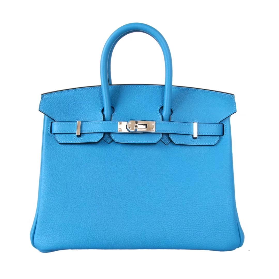 Hermès(爱马仕)Birkin 30cm 银扣  坦桑尼亚蓝  togo