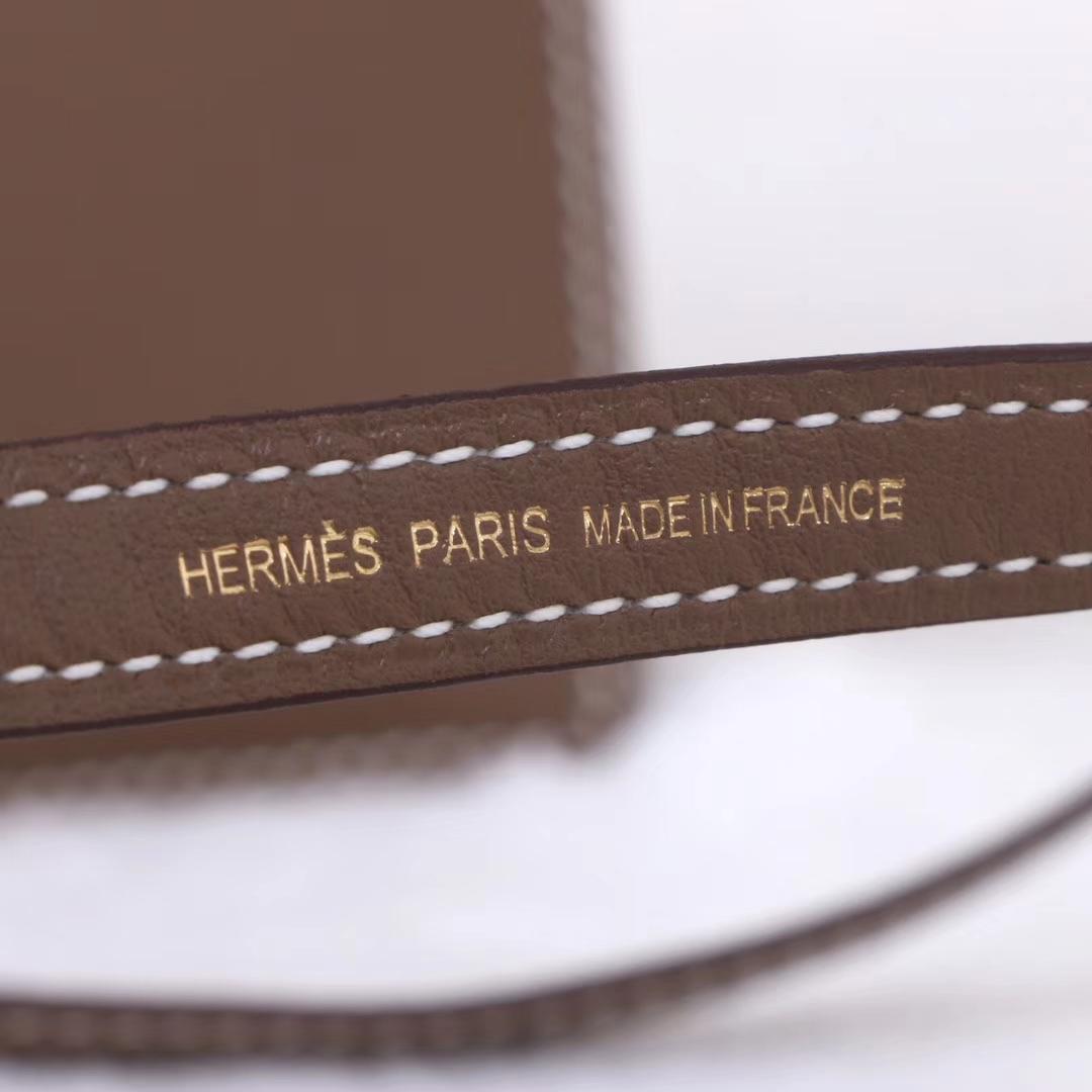 Hermès(爱马仕)kelly danse 跳舞包 大象灰 swift皮 金扣 22cm