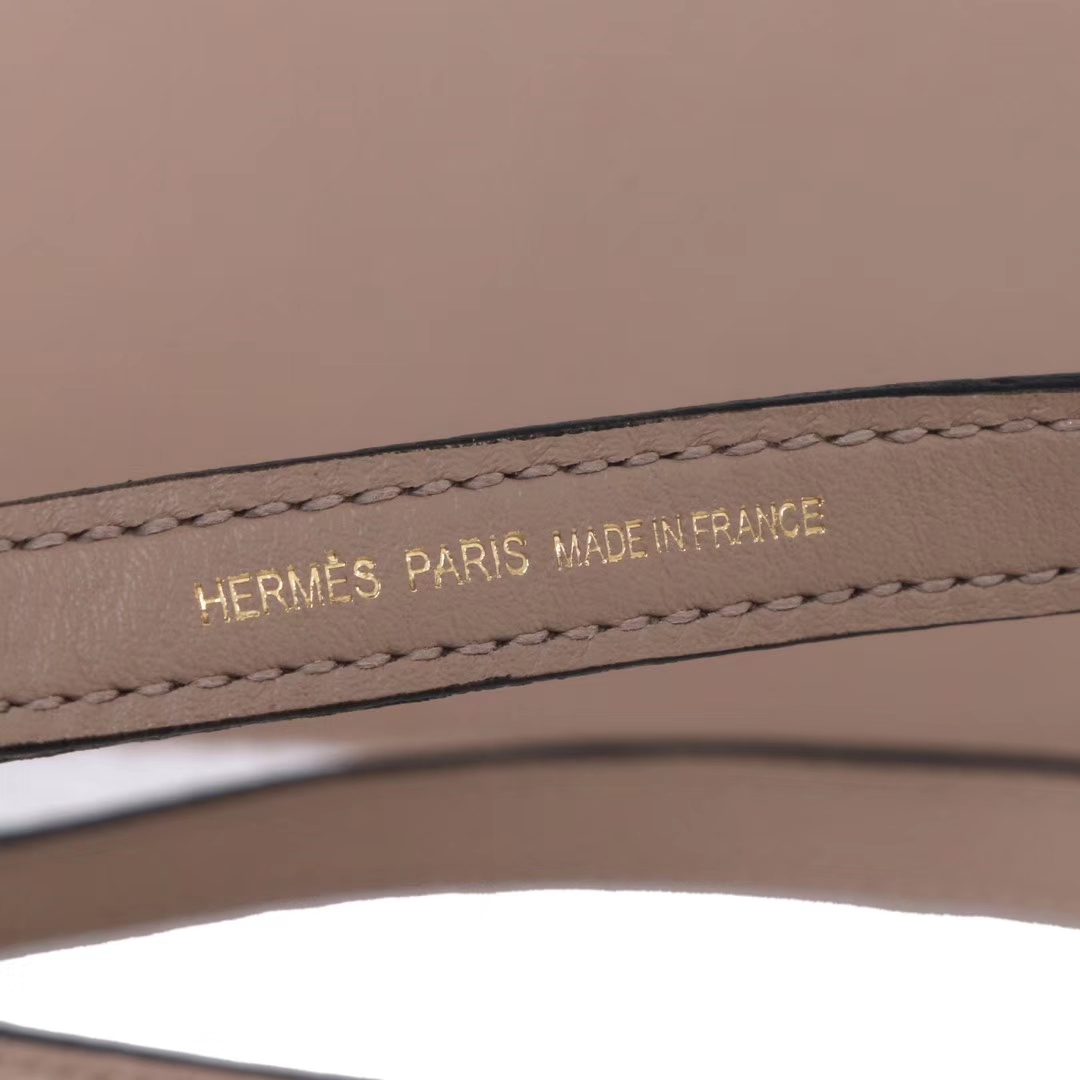 Hermès(爱马仕)kelly danse 跳舞包 风衣灰 swift皮 金扣 22cm