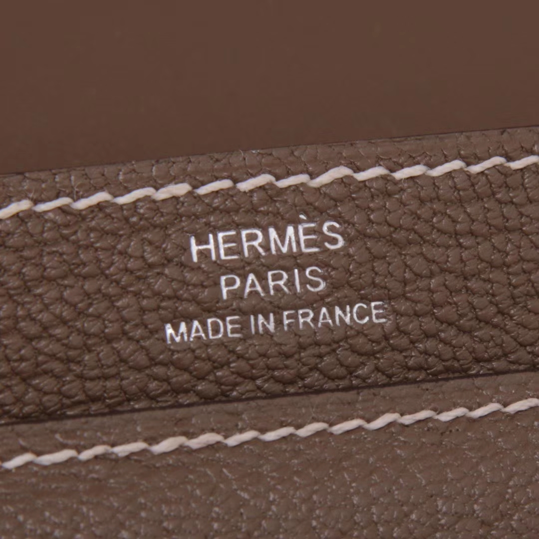 Hermès(爱马仕)Verrou锁链包 大象灰 羊皮 银扣 17cm