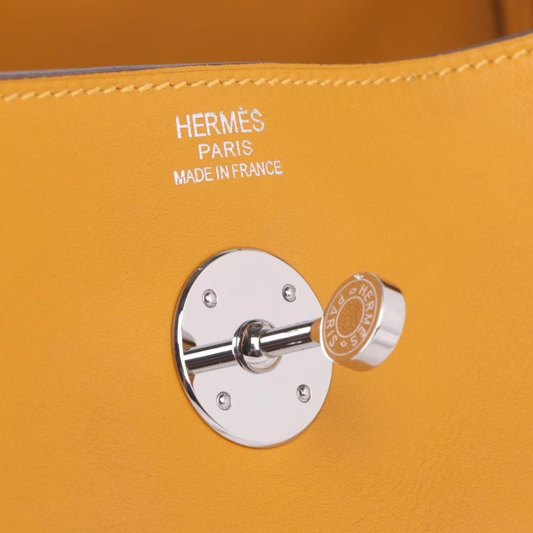 Hermès(爱马仕)lindy 30 银扣 9D琥珀黄 swift皮