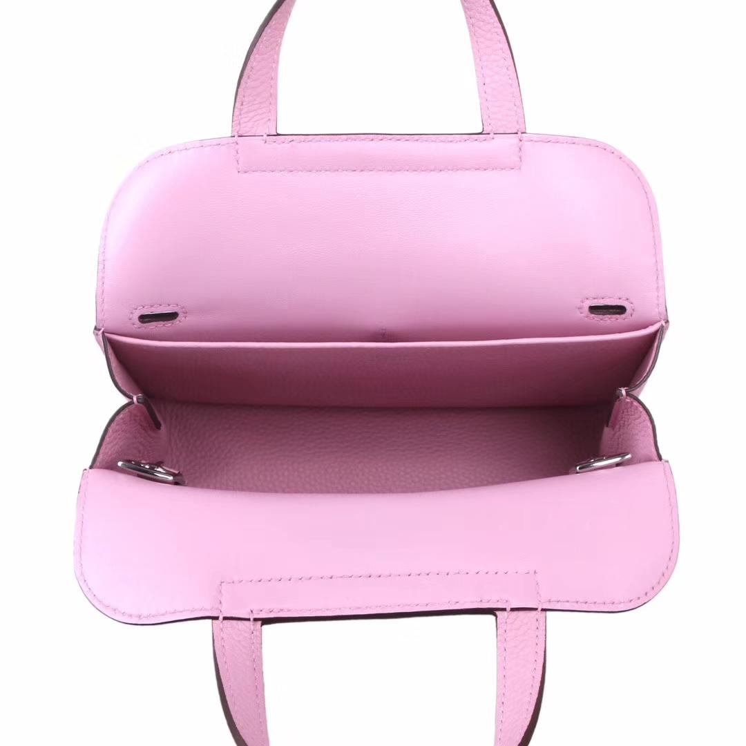 Hermès(爱马仕)Halzan mini x9锦葵紫 swift皮 22cm