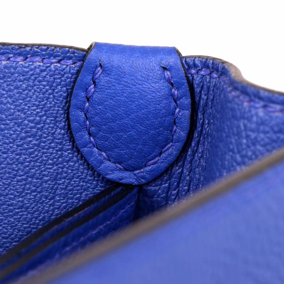 Hermès(爱马仕)roulis 猪鼻包 电光蓝 togo 银扣 23cm