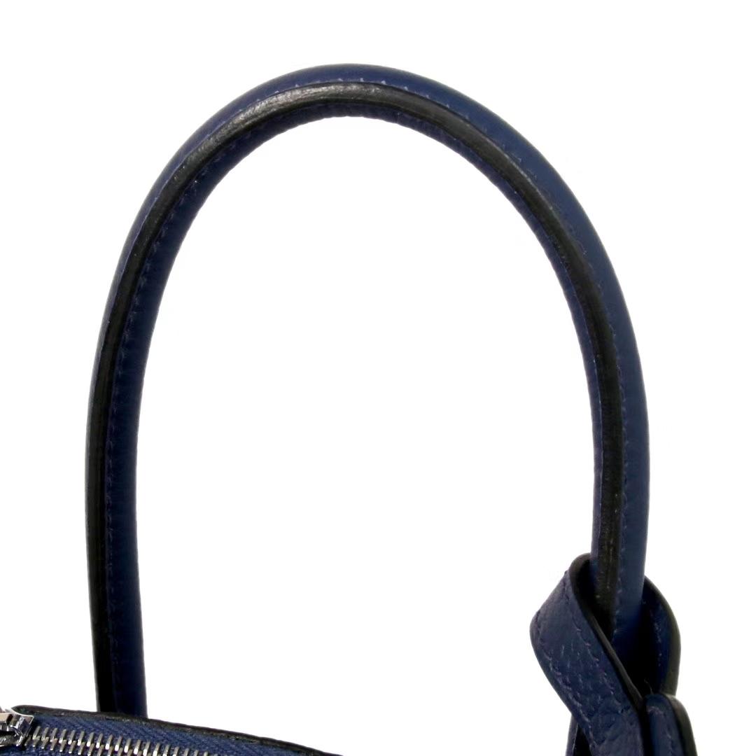 Hermès(爱马仕)Lindy 26CM 银扣  宝石蓝  togo