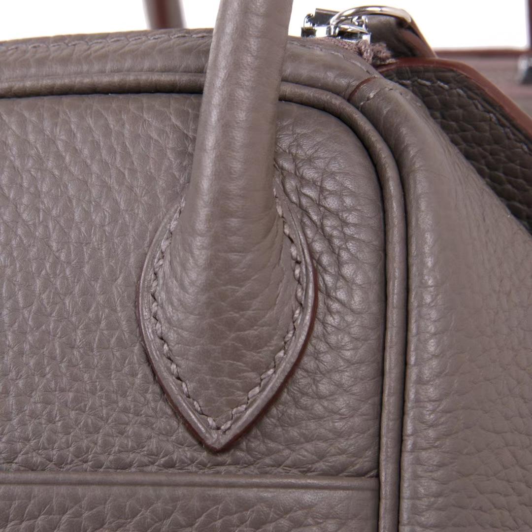 Hermès(爱马仕)Lindy 26CM 银扣 锡器灰 togo