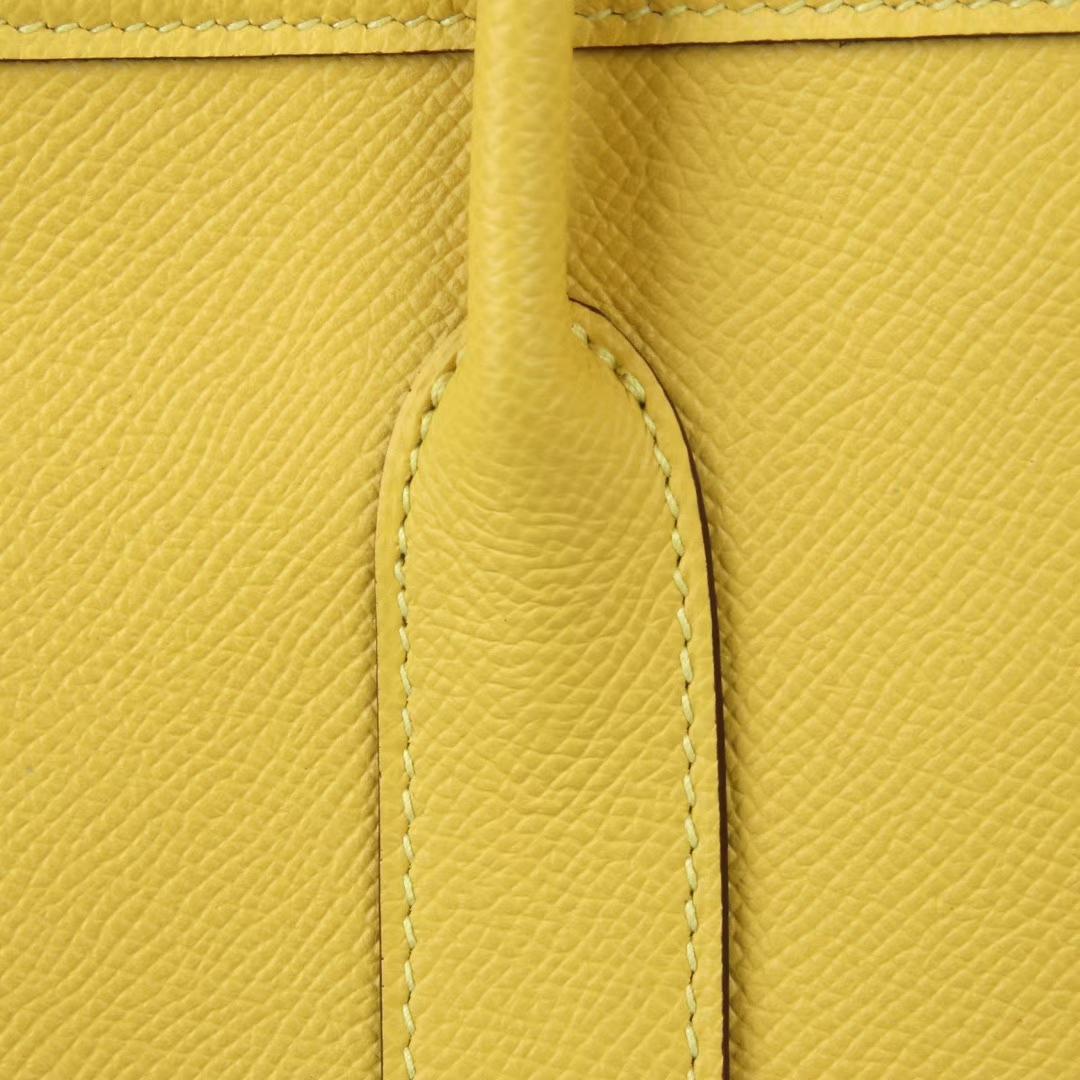 Hermès(爱马仕)Garden 花园包 那不勒斯黄 Epsom皮 银扣 30cm