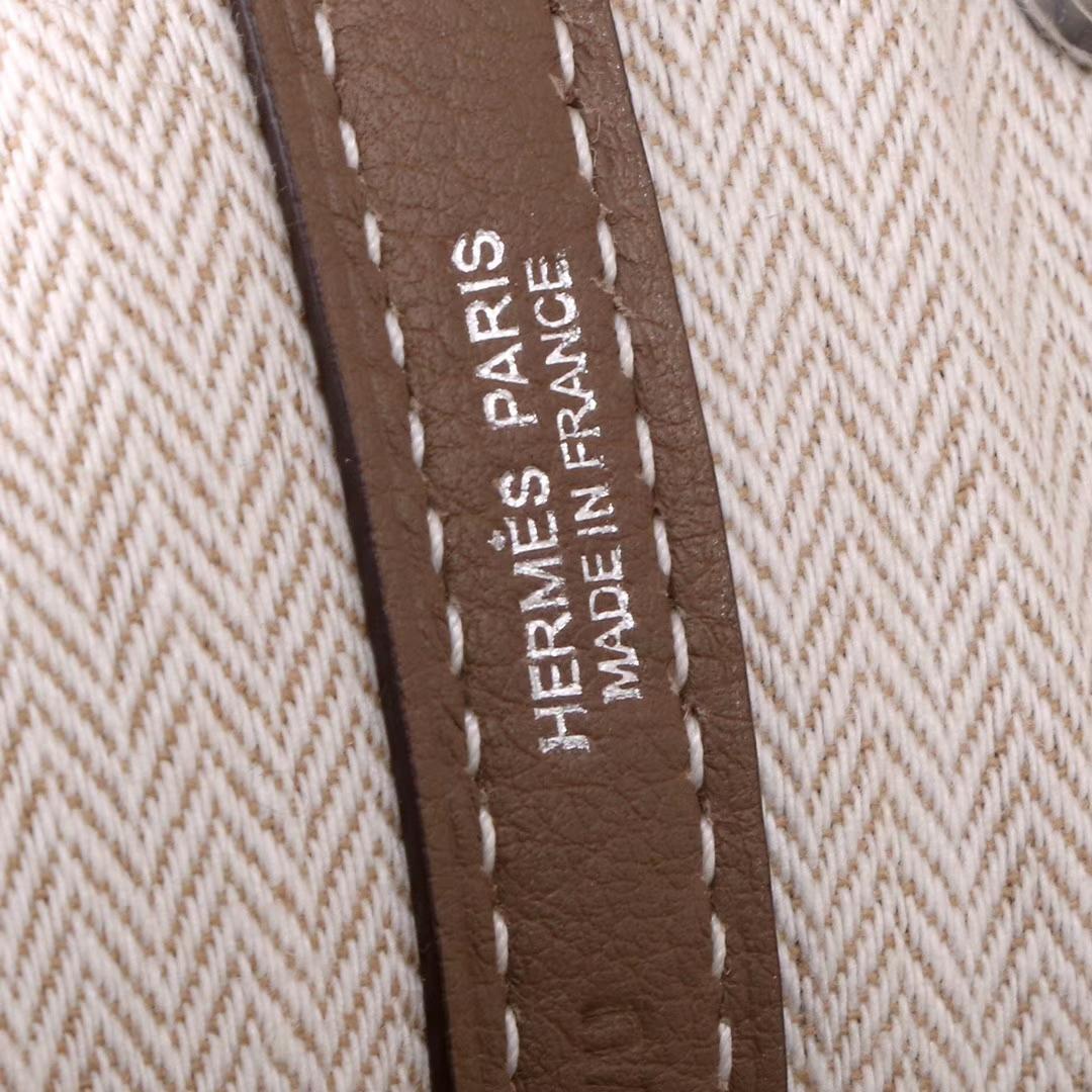 Hermès(爱马仕)Garden 花园包 大象灰 togo 银扣 30cm