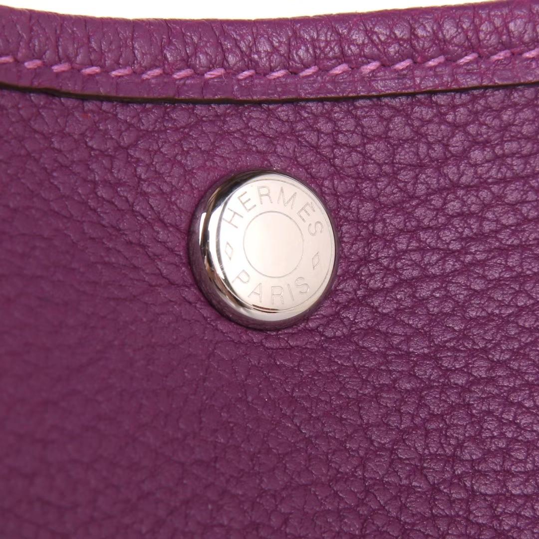 Hermès(爱马仕)Garden 花园包 30 银扣 梦幻紫  togo