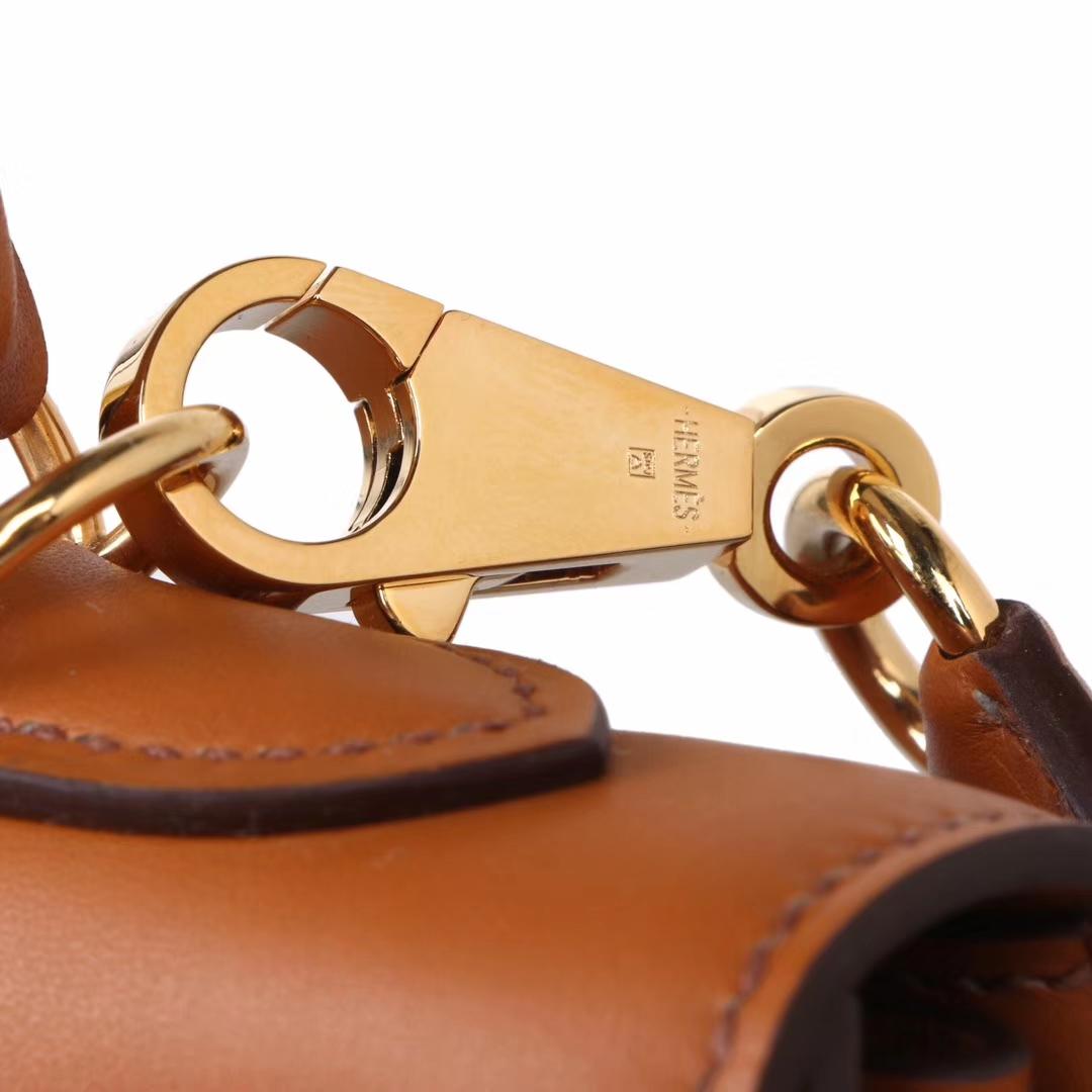 Hermès(爱马仕)Kelly 凯莉包 金棕色  box皮 金扣 25cm