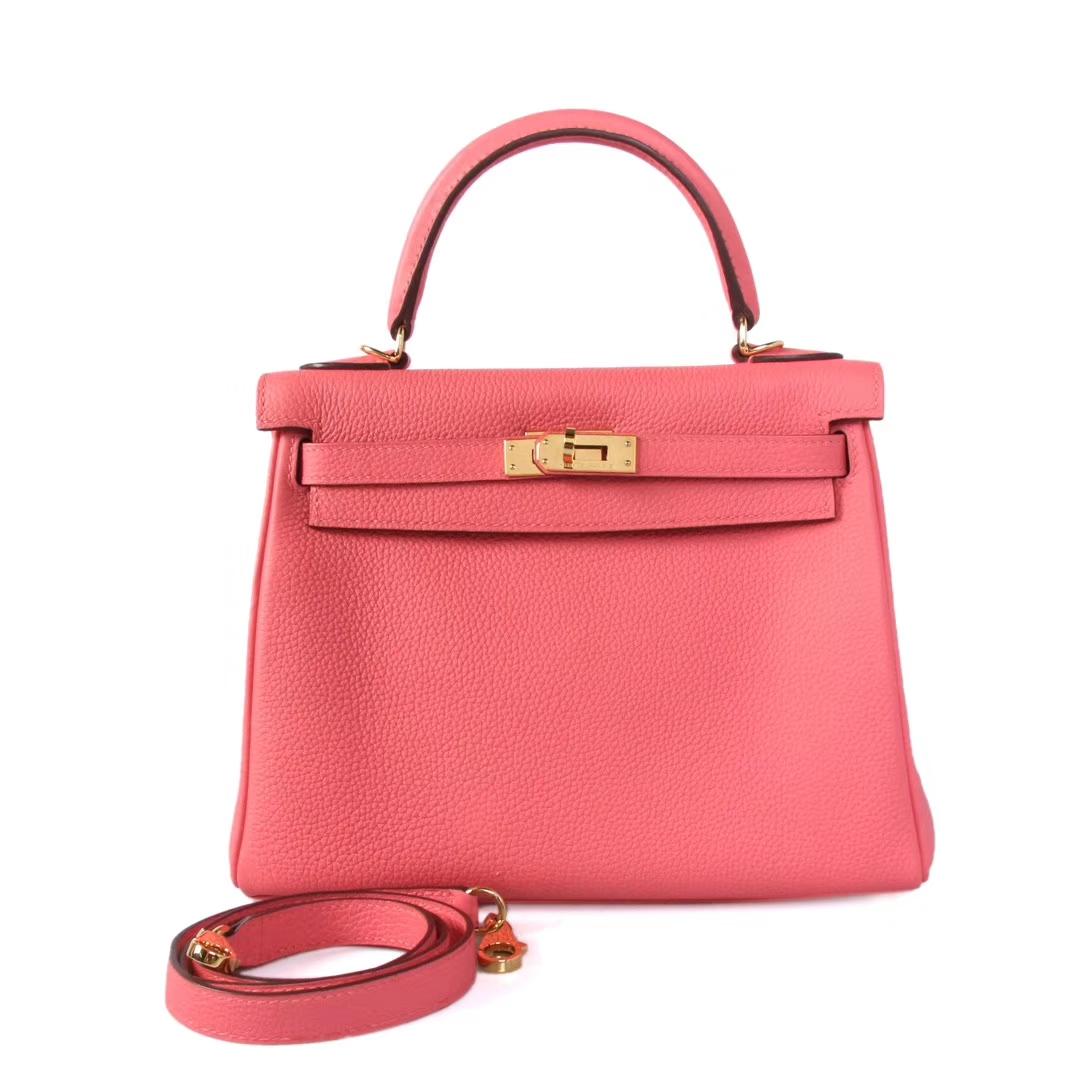 Hermès(爱马仕)Kelly 凯莉包 唇膏粉 Togo 金扣 25cm