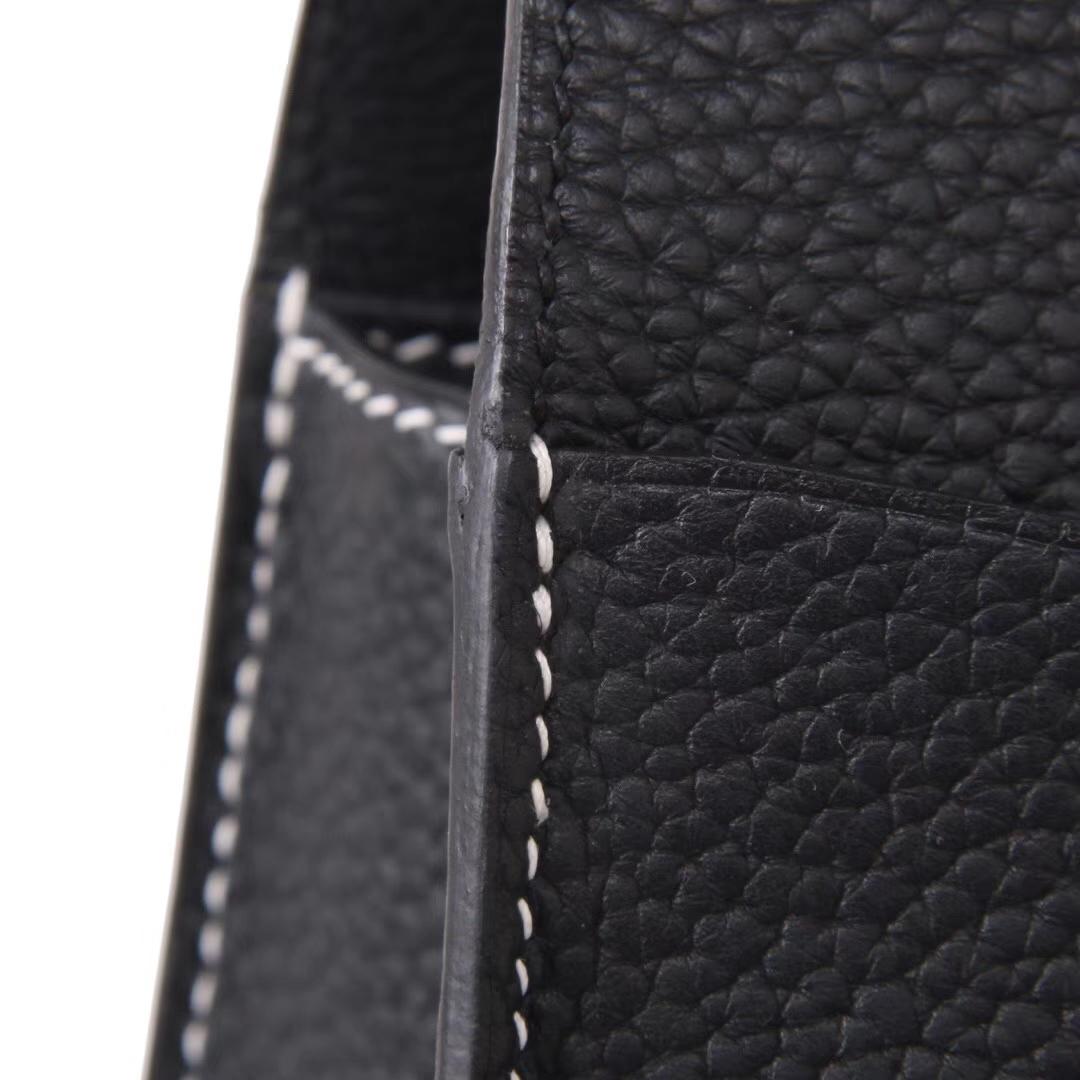 Hermès(爱马仕)halzan 31cm 黑色 togo