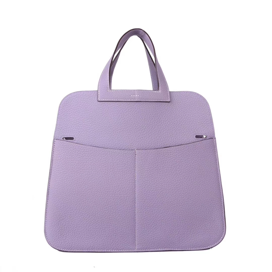 Hermès(爱马仕)halzan 31cm 香芋紫 togo
