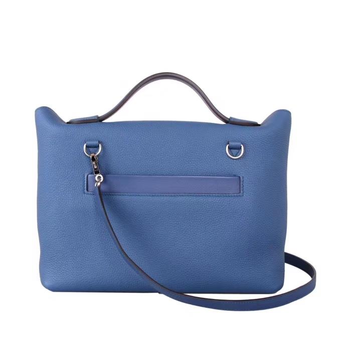 Hermès(爱马仕)Kelly 2424 R2玛瑙蓝 Togo 银扣 29cm