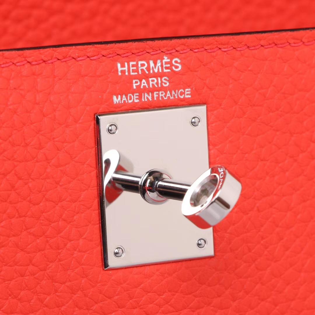 Hermès(爱马仕)kelly ado 双肩包 中国红 togo