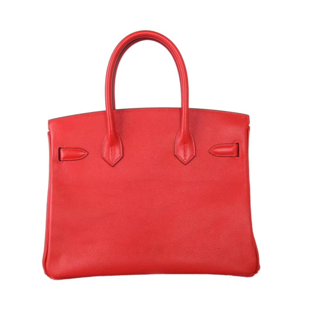 Hermès(爱马仕)Birkin 铂金包  国旗红 山羊皮 金扣 30cm