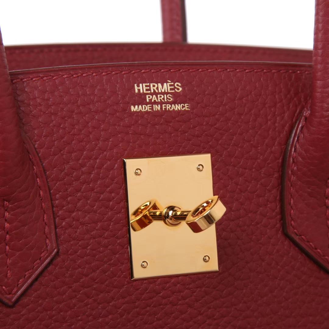 Hermès(爱马仕)Birkin  爱马仕红 togo 金扣 30cm