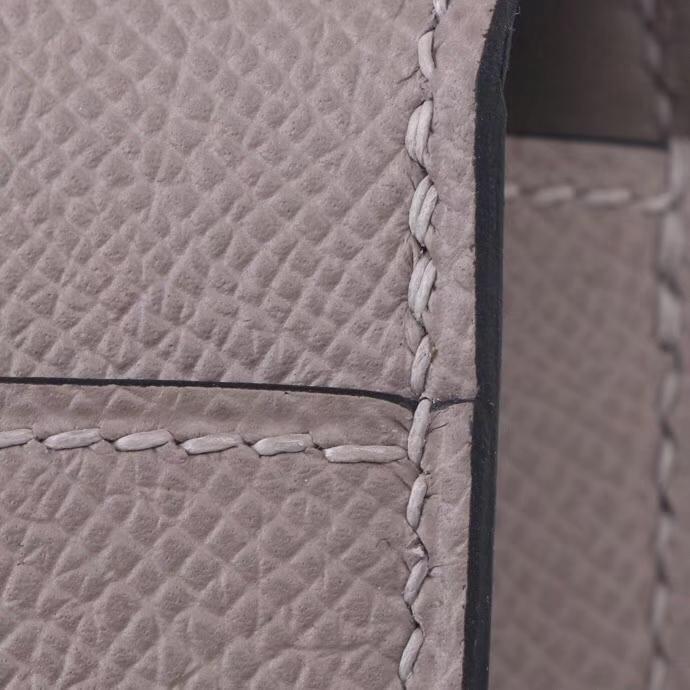 Hermès(爱马仕)Verrou 锁链包 M8沥青灰 epsom皮 银扣 17cm