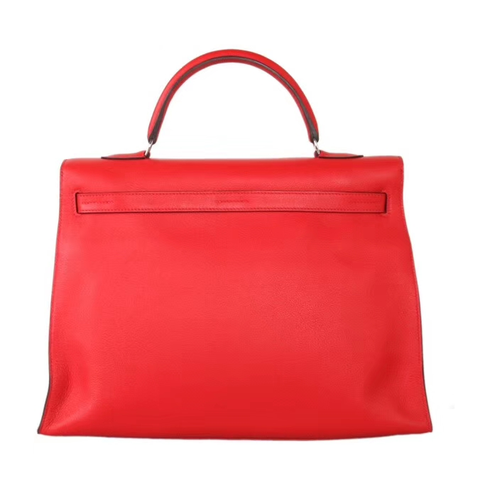 Hermès(爱马仕)Kelly Flat 红色 银扣 swift皮 35cm