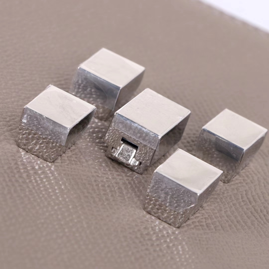 Hermès(爱马仕)马赛克 挎包 沥青灰 EP皮 银扣