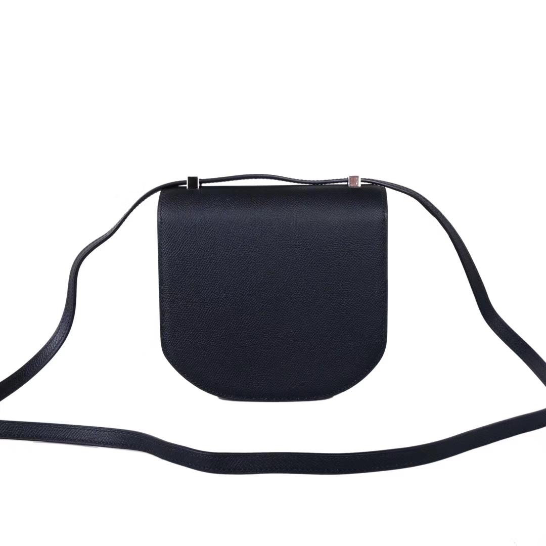 Hermès(爱马仕)马赛克 挎包 黑色 EP皮 银扣