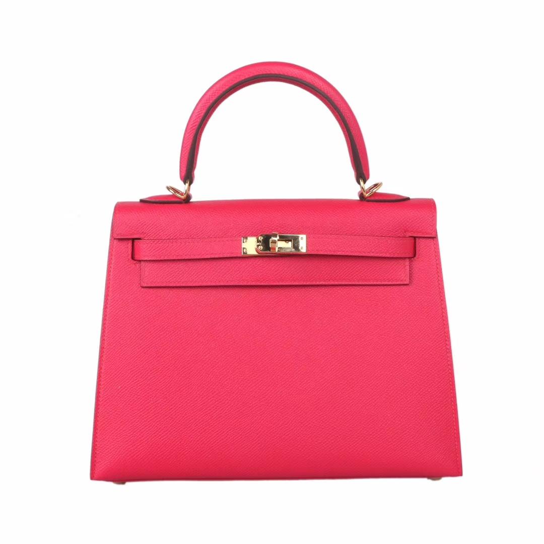 Hermès(爱马仕)Kelly 凯莉包 极致粉 EP皮 金扣 25cm
