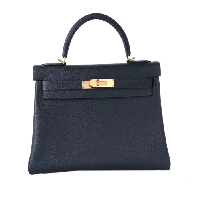 Hermès(爱马仕)Kelly 凯莉包 黑色 TOGO 金扣 28cm