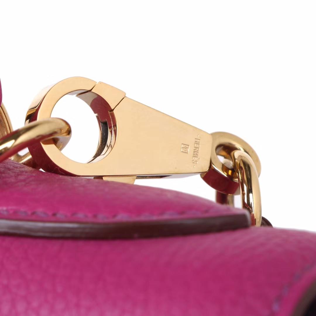 Hermès(爱马仕)Kelly 凯莉包 玫瑰紫 Togo 小牛皮 金扣 28cm
