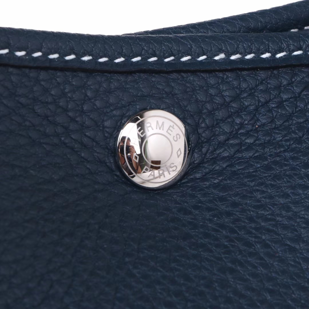 Hermès(爱马仕)Garden 花园包 鸭子蓝 togo 银扣 30cm