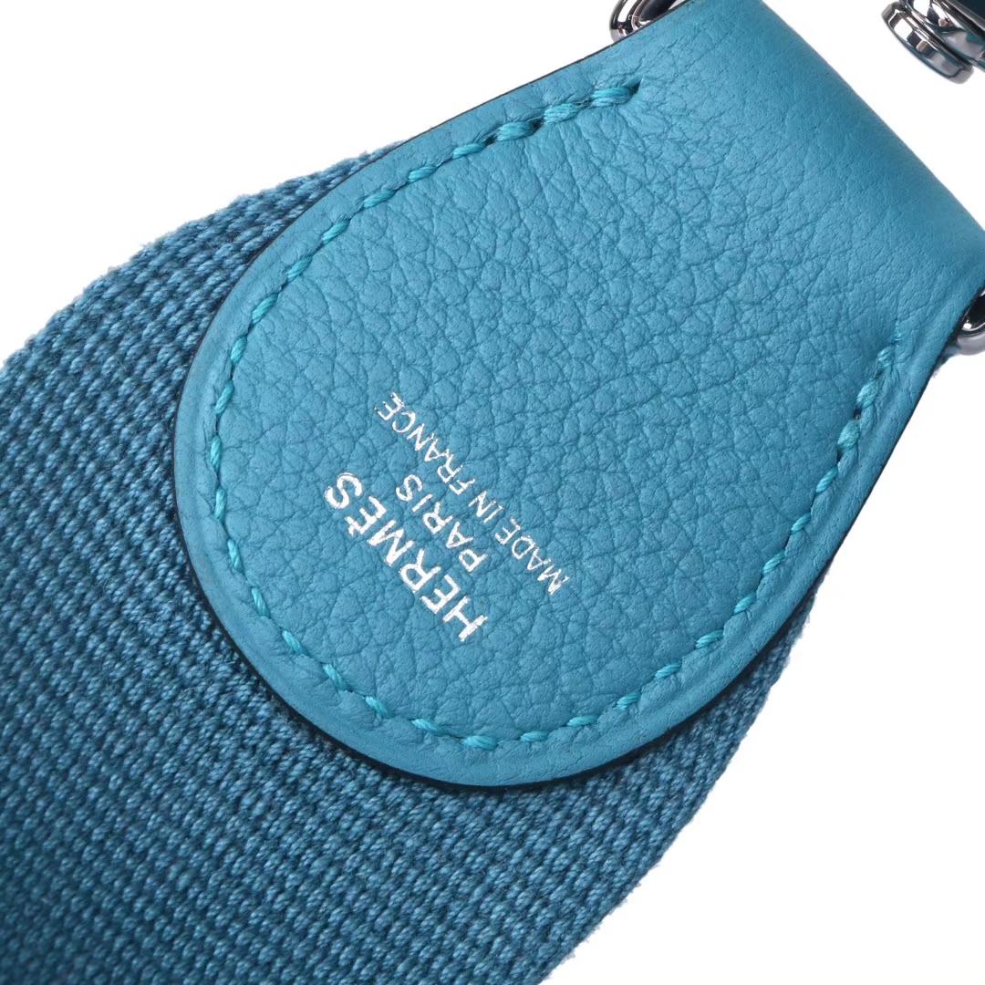 Hermès(爱马仕)Toolbox 牛奶盒 松石蓝 swift皮 银扣 26cm