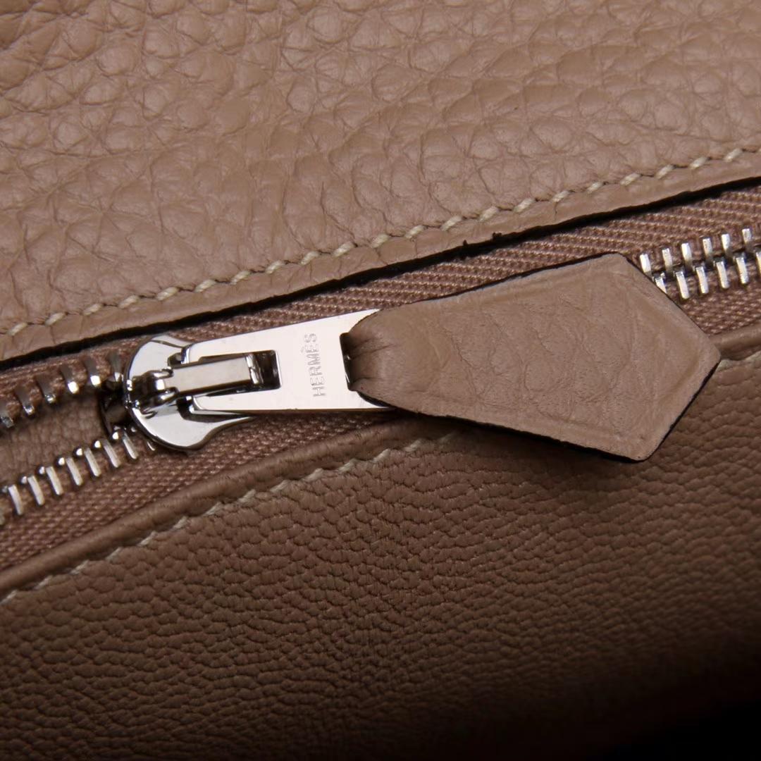 Hermès(爱马仕)soKelly 单肩包 斑鸠灰 togo 银扣 22cm