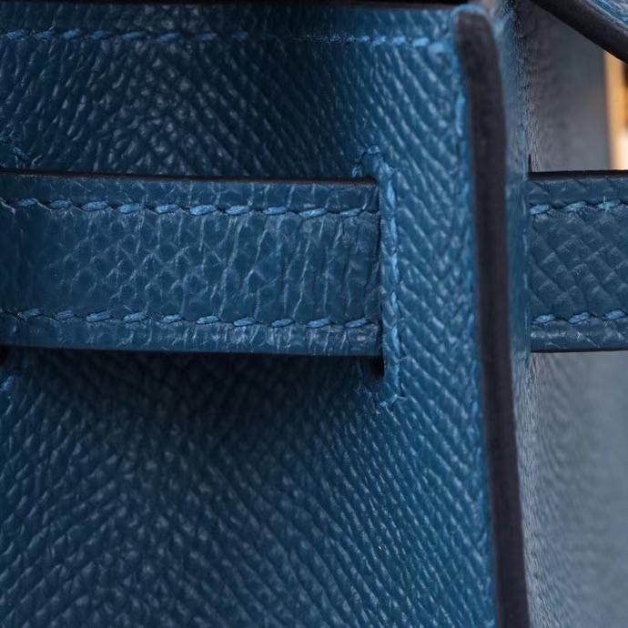 Hermès(爱马仕)miniKelly 博斯普鲁斯绿 Epsom皮 金扣 1代