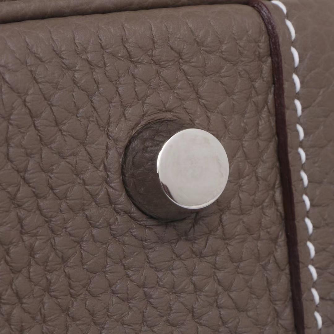 Hermès(爱马仕)mini lindy20  银扣  大象灰  Togo