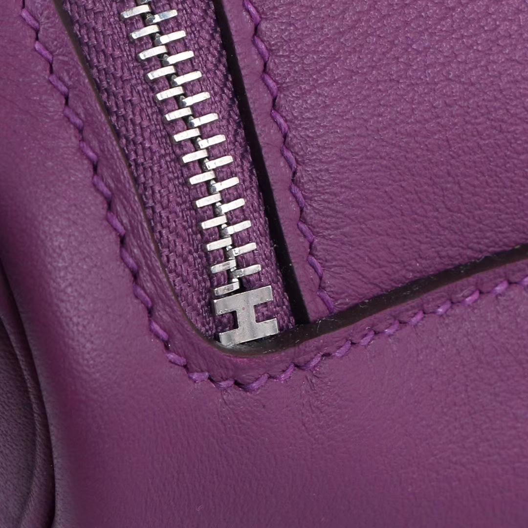 Hermès(爱马仕)mini lindy20  银扣 海葵紫  swift